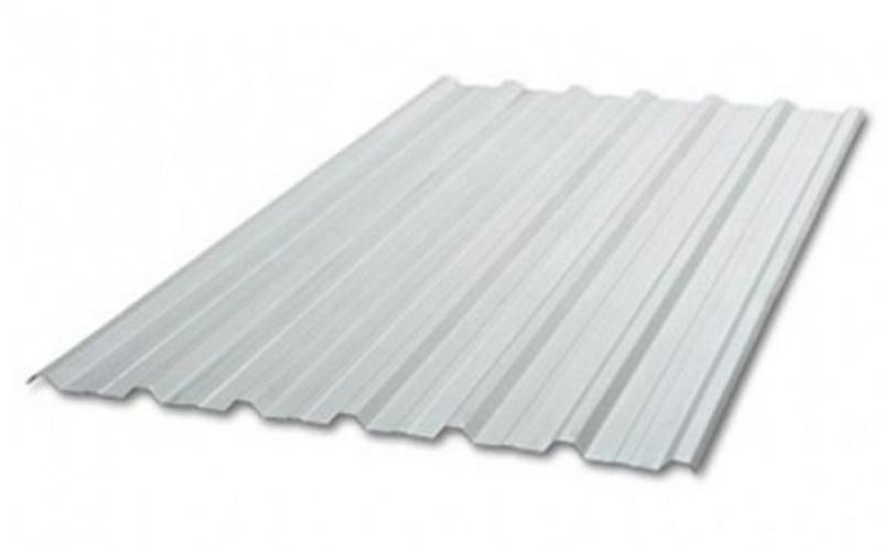 Telha de Aço Galvanizado Branca Bela Vista - Telhas de Aço Galvanizado Trapezoidal
