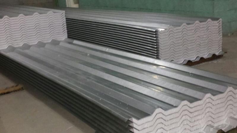 Telha de Aço Galvanizado com Isopor Preço no Pacaembu - Telha de Aço Galvanizado Pintadas