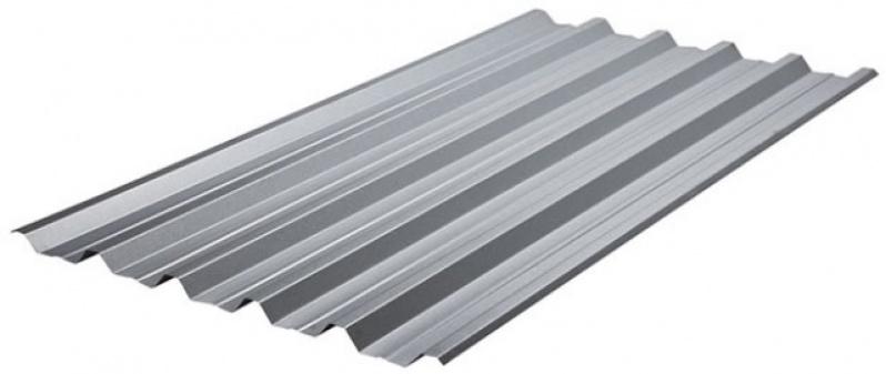 Telha de Aço Galvanizado com Isopor no Glicério - Telhas de Aço Galvanizado Trapezoidal