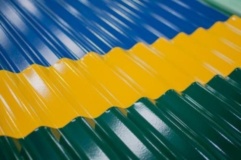 Telha de Aço Galvanizado Pintadas no Alto de Pinheiros - Telha Aço Galvanizado Termoacústica