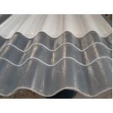 telha de fibra de vidro ondulada Água Branca