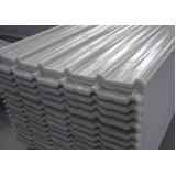 telha fibra de vidro trapezoidal no Campo Belo