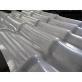 telha colonial de fibra de vidro